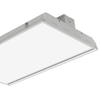 55225 PQL LED FLAT 2' HIGH BAY 90W/4000K/FROSTED LENS/V-HOOKS AND CHAIN/DIMM- SUPERIOR LIFE- DLC