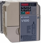 CIMR-VUBA0018FAA  Yaskawa V1000 Series 5 Nominal HP 200-240V 3-Phase Drive / Single Phase Input. 17.5 Amps Variable Torque / 17.5 Amps Constant Torque. NEMA 1
