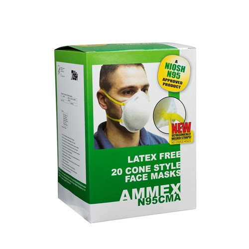 N95CMA AMMEX N95 Cone Masks 20 Masks/Box; 12 Boxes/Case