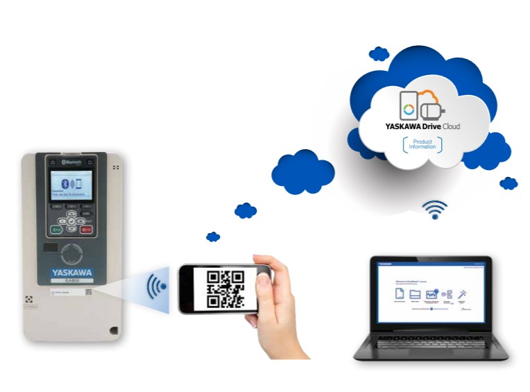 The new Yaskawa GA800 Drive can Connect to Your Phone!
