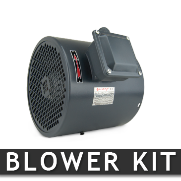 BLWRKIT360T TechTop CONSTANT VELOCITY FAN BLOWER KIT, ROLLED STEEL, THREE PHASE 230/460V, FITS 360T FRAME