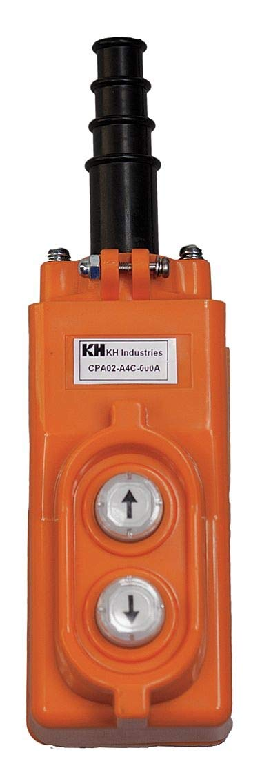 CPA02-A4C-000A KH Industries Pendant, A Series, 2-Button, Single Ph Motor, Orange