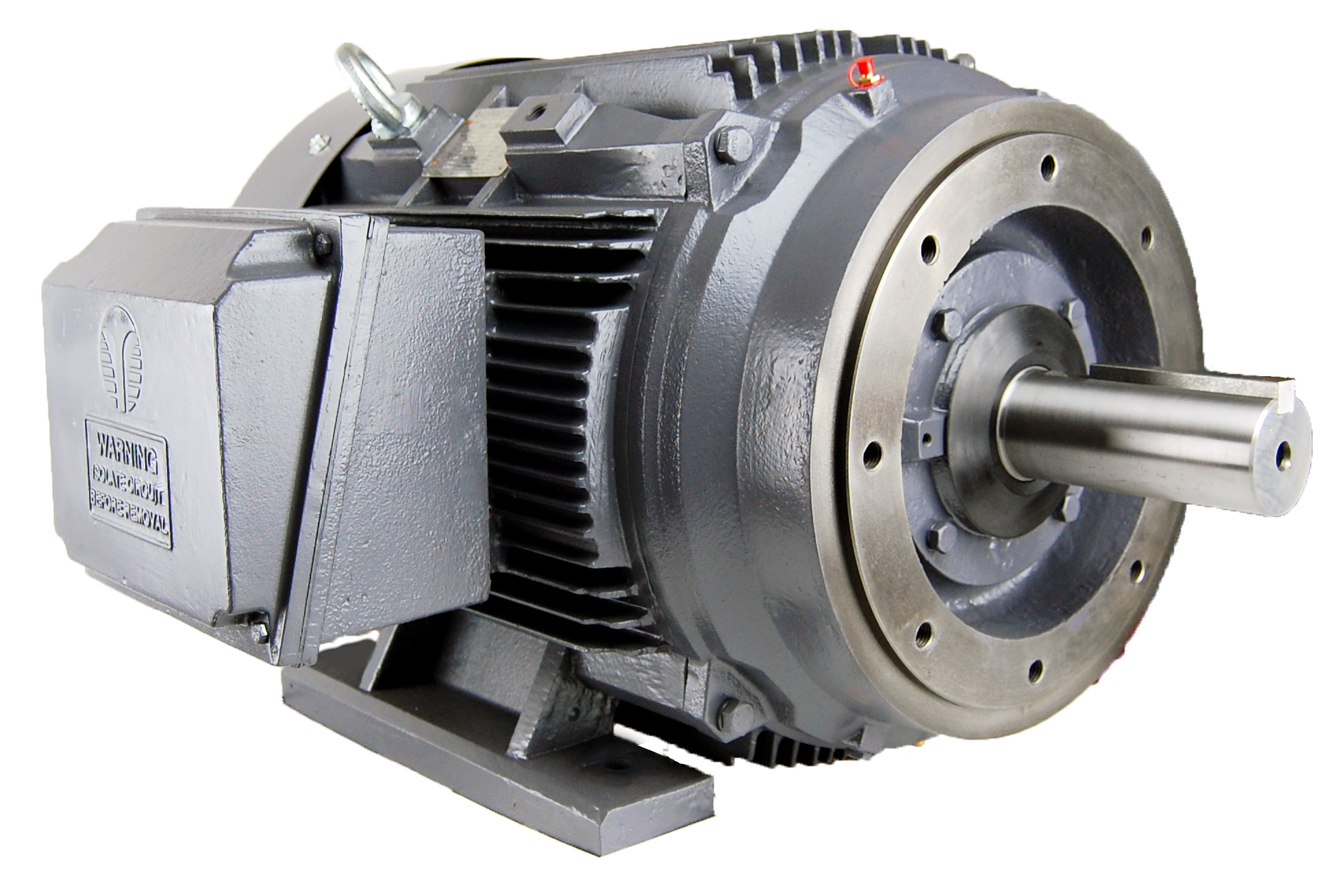 GR3-CI-TF-143TC-2-B-D-1 TechTop PREMIUM EFFICIENCY,3 PHASE CAST IRON,TEFC,143 FRAME, C-Flange, 3600RPM,BALL BEARING, 208-230/460V,1HP, Removable Feet