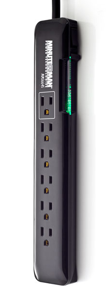 MMS664S MinuteMan Slim, 6-outlet strip, 1080 Joules, 4-ft cord