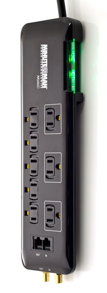 MMS686SCT MinuteMan Slim, 8-outlet strip, 3420 Joules, 6-ft cord