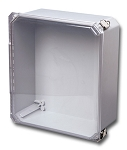 DSCC141208HPL STAHLIN DIAMONDSHIELD® SERIES – CLEAR COVER-HINGED AND PULL LATCH  , 14.66 x 12.66 x 8.06