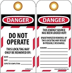 21512 Morris Tags Do Not Operate (5 Pack)