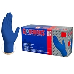GWRBN4 AMMEX Gloveworks HD Royal Blue PF Ind (Sold by Case of 10 Boxes = 1000 Gloves)