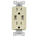 82376 Morris White 20A USB Receptacle