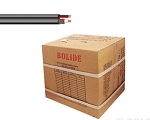 BP0033/CB1000 Bolide 1000FT ETL Solid Copper Core 95% Coverage RG59+18/2 Siamese Cable, Black ( 54 boxes / pallet )