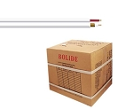 BP0033/CW1000 Bolide 1000FT ETL Solid Copper Core 95% Coverage RG59+18/2 Siamese Cable, White ( 54 boxes / pallet )