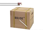 BP0033C Bolide 500FT ETL Solid Copper Core 95% Coverage RG59+18/2 Siamese Cable, White