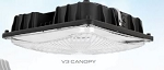 83348 PQL 60 WATT LED Canopy Fixture. 5000K. 120-277V. Non-Dimmable