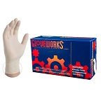 TLF4 AMMEX Gloveworks Latex PF Ind Gloves (Box of 100 Gloves / Minimum Order 20 boxes)
