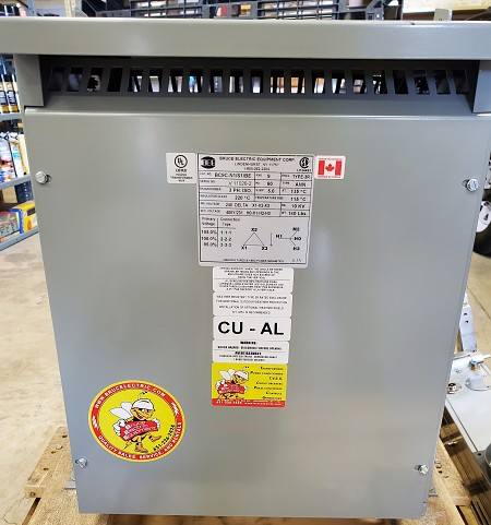 BC9CN1/S1 Rex Power 9KVA 3-Phase Transformer. Primary: 240V Delta. Secondary: 400V Wye