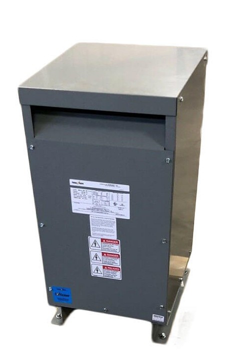 S2XLH21-100 Federal Pacific 1 Phase 100 KVA Ventilated Dry Type Transformer. 240x480V Primary X 240/120 V Secondary